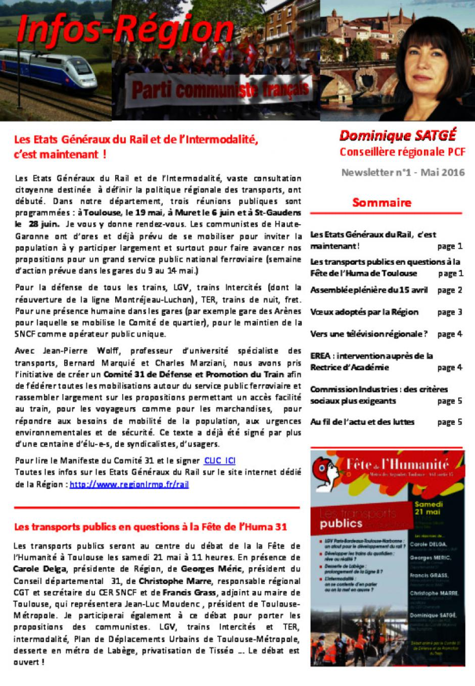Newsletter D. Satgé